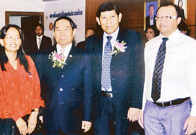 泰中工商业联合总会招纳贤能加盟主席测他上将聘请知名事业家罗炎松为名誉主席
