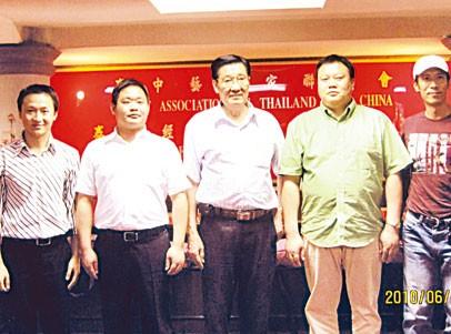 佳美集团高层访问泰中经贸交流中心蔡义批总裁与黄少平总经理就双方交流合作达成共识