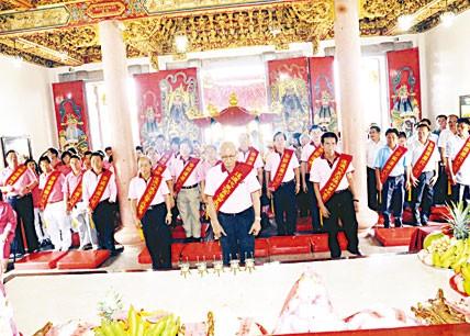 暹罗代天宫庆祝李府范府千岁圣诞赖南兴董事长主持祭典  董事善信踊跃参加活动