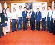 中华全国青年联合会代表团访问中总刘暹有副主席与万学军副秘书长一行亲切座谈