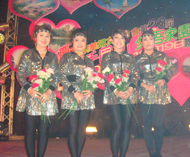 """泰国广西总会妇女会参加由泰华妇女联合会主办的题为""""携手同心,爱吾家园""""大型联欢晚会"""