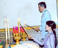 泰皇上陛下恩赐御代表皇储暨妃幸临金佛寺主持大佛殿建竣揭幕典礼