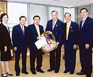 会计法律公会领导向税务厅长贺年