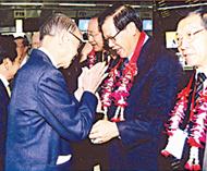 泰华宗联应邀组团访问缅甸侨社侨领陈保徐惠深前往机场为黄汉良主席一行送行