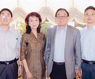 光明日报及人民日报驻泰记者履新报人基金会主席陈郑伊梨接见新旧任记者并设宴招待
