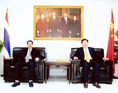 云南省侨联代表团访问中国商会苏锦选主席与锺乔光主席一行亲切座谈