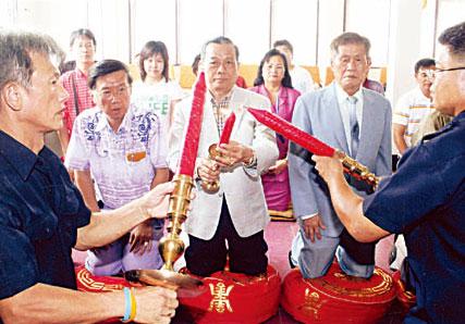 纪氏宗亲总会举行春祭大典纪威文理事长领导理事宗亲举行谒祖仪式