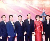 中国大使馆隆重举行国庆招待会泰国中国商会领导苏锦选庄汉升庄稼参与其盛